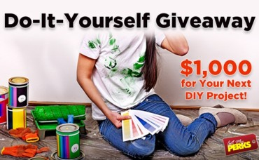 Enter to Win $1,000 in the Get My PERKS Do-It-Yourself Giveaway