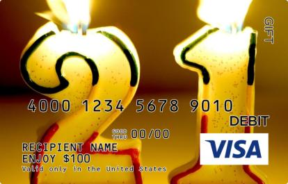 21st Birthday Visa Gift Card