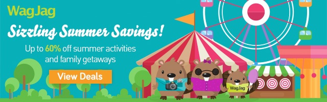 Sizzling Summer Savings! On all summer activities and family getaways.