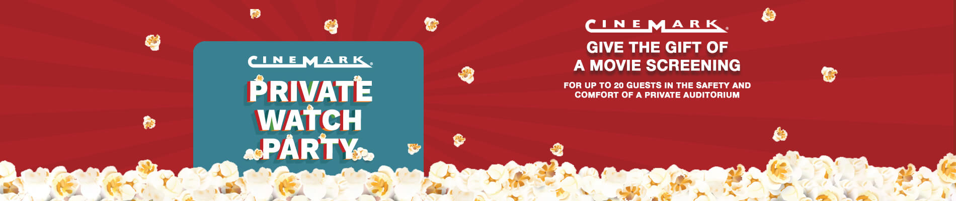 Cinemark Private Watch Party eGift Card