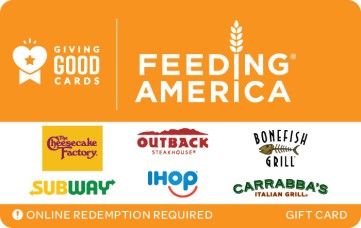 Giving Good Feeding America eGift Card