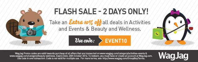 FLASH SALE: 2 DAYS ONLY - Use code 'EVENT10' to get 10% off beauty & wellness and activities & events