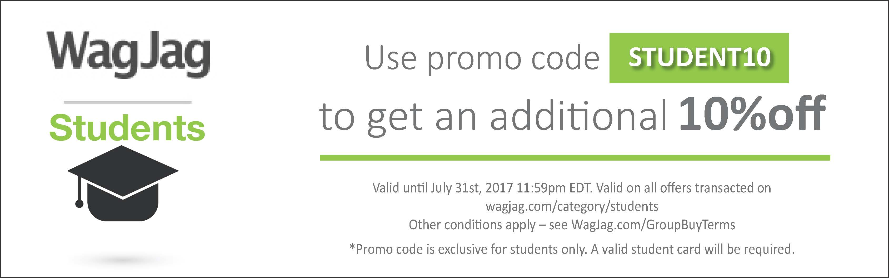 SSave an extra 10% on offers in our student category with code STUDENT10