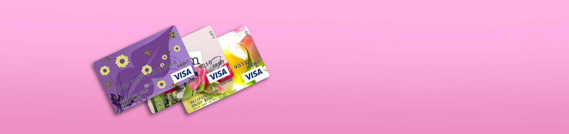 Design your own Visa Gift Cards