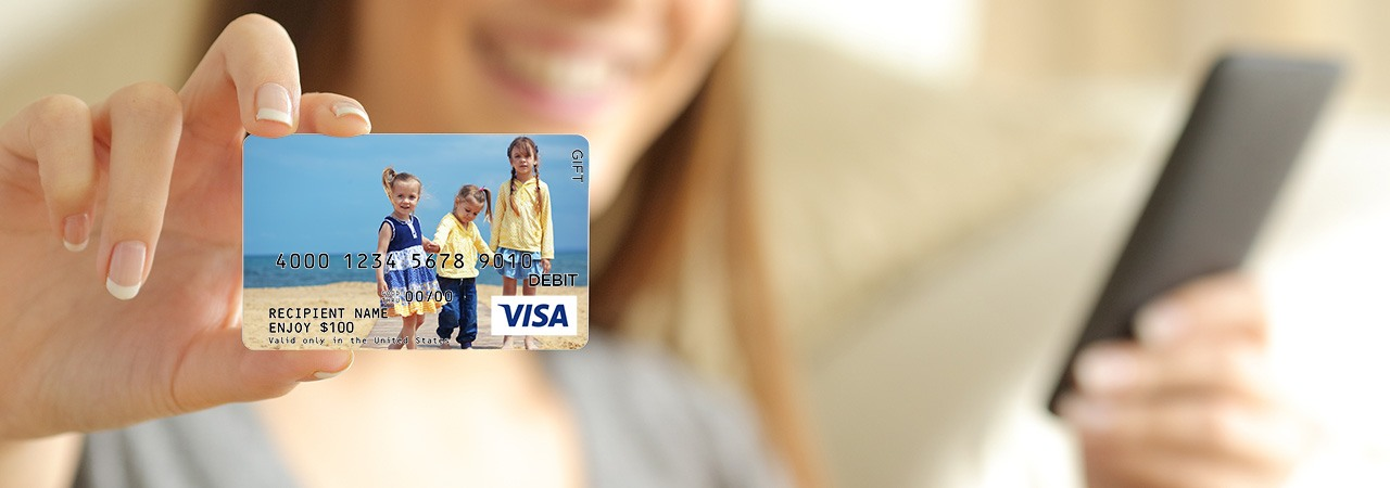 design your own gift card - Custom Visa Debit Card