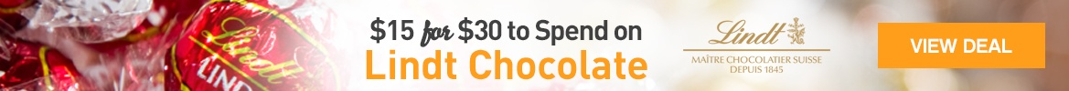 Spend $15 for $30 of Lindt Chocolate - WagJag Exclusive