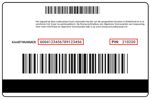 RestaurantCadeau code check-balance