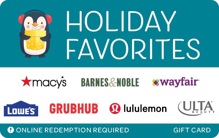 holiday favorites penguins egift card