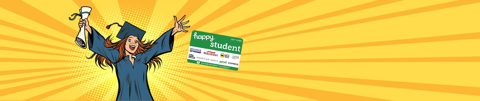 Happy Student Gift Card Sale