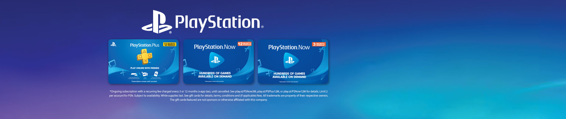 PS Plus and PS Now eGift Card Sale