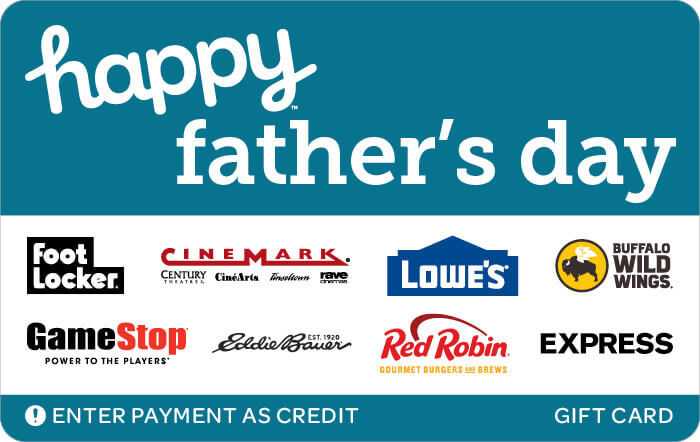 happy fathers day gift card