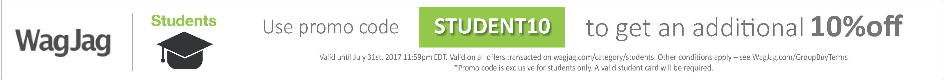 Save an extra 10% on offers in our student category with code STUDENT10
