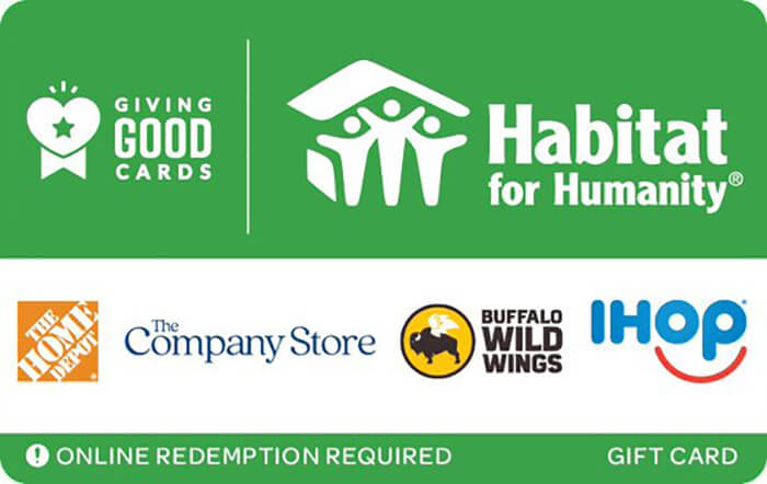 Giving Good Habitat for Humanity eGift Card