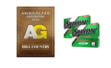 2018 AVIDGOLFER Hill Country Passbook with Two Dozen Srixon Balls!