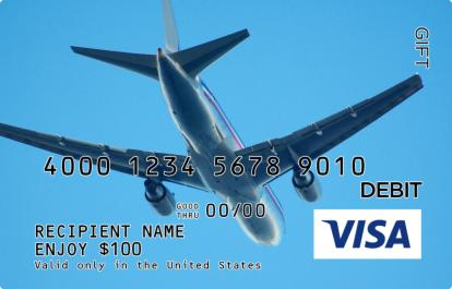 Airplane Visa Gift Card