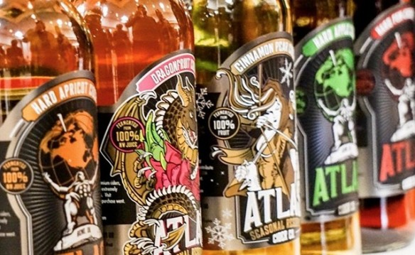 Half Off Atlas Cider 6 cider tasting sampler at the Atlas cider tasting room – Washington Square