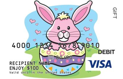 Baby easter bunny visa gift card negle Images
