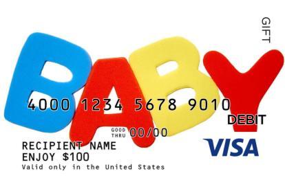 baby spelling visa gift card - Baby Gift Card