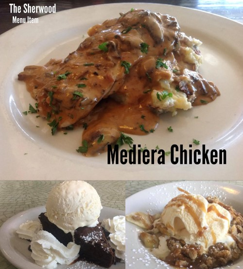 The Sherwood Chicken Meal and Dessert Items