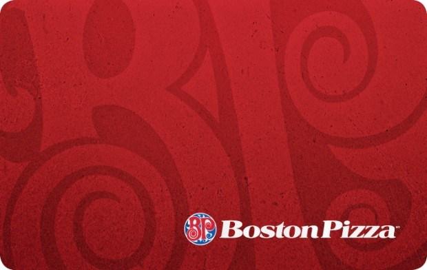 Boston Pizza $50 Gift Card