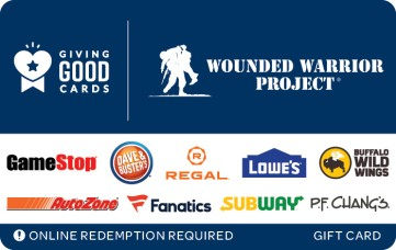 Giving Good Wounded Warrior Project eGift Card