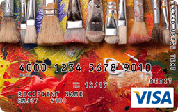 Acrylic Paintbrushes Visa Gift Card