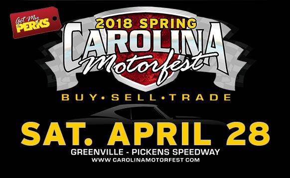 Spring 2018 Carolina Motorfest - Swap Meet Space