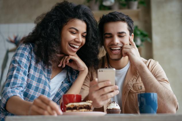 Kroger Couple On Phone
