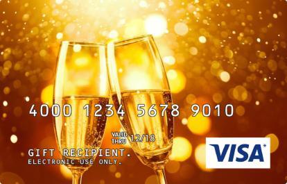 Champagne Flutes Incentive Visa Prepaid Card