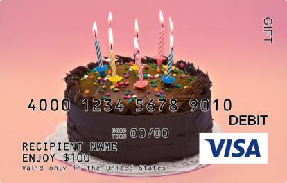 Chocolate Birthday Visa Gift Card