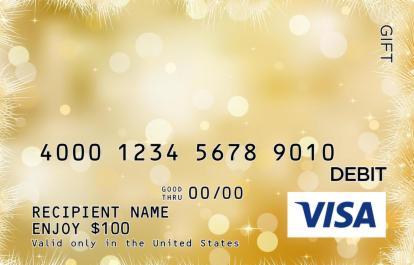 Christmas Sparkle Visa Gift Card