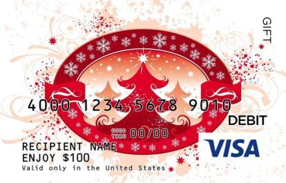 Christmas Symbol Visa Gift Card