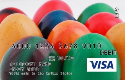 Colorful easter eggs visa gift card negle Choice Image