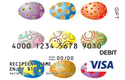 Colorful easter visa gift card negle Images