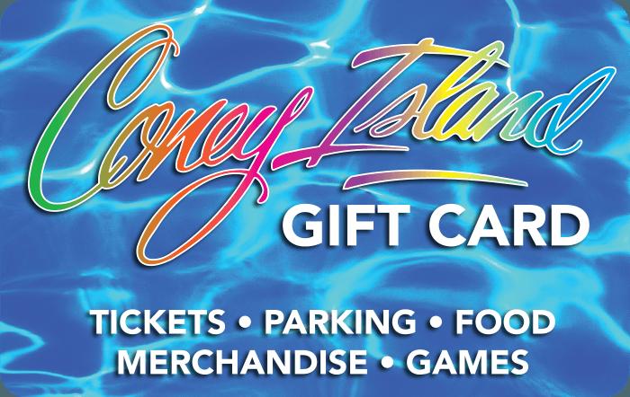 Coney island gift card