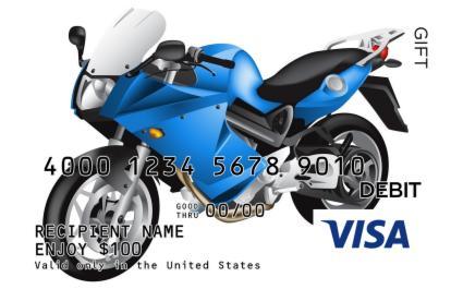 Cool Sports Bike Visa Gift Card