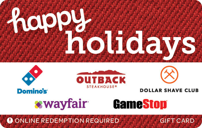 happy holidays red egift card