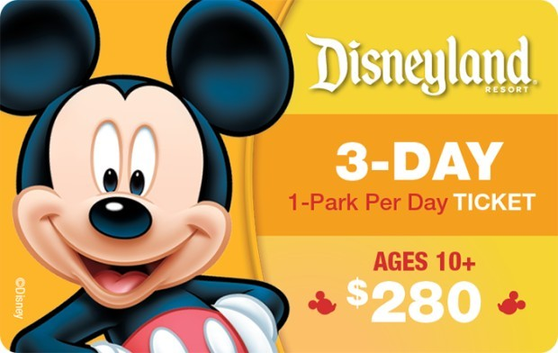 Disneyland® Resort 3-Day, 1-Park Per Day Ticket Ages 10+ $280