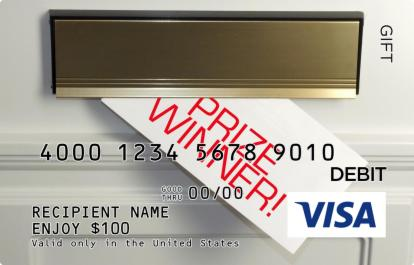 Door Prize Winner Visa Gift Card