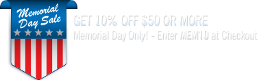 One Day Offer - Memorial Day Only!