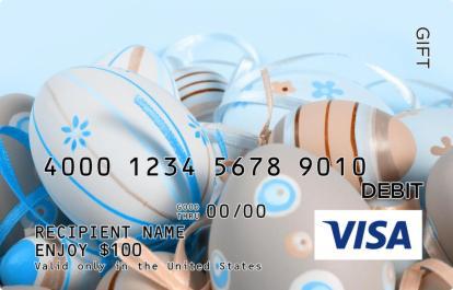 Easter And Ribbons Visa Gift Card