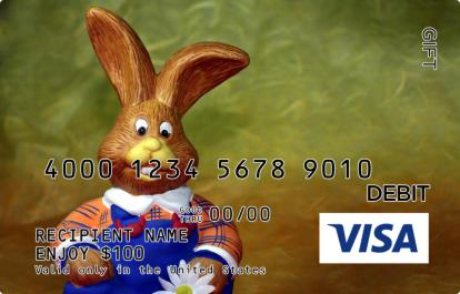 Easter bunny visa gift card negle Images