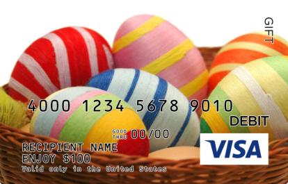 Easter eggs in grass visa gift card negle Choice Image
