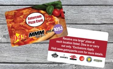 Entercom Madison Pizza Week Card