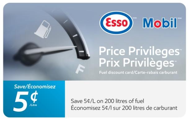 Esso and Mobil $10 Price Privileges eGift Card