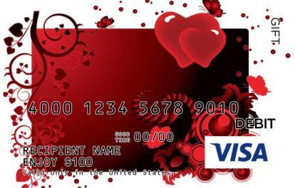 Fantasy Hearts Visa Gift Card