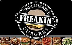 Freakin Unbelievable Burgers Gift Card