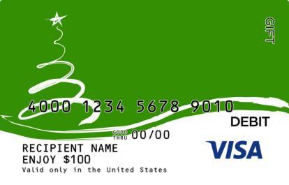 Fun Christmas Tree Visa Gift Card   GiftCardMall.com