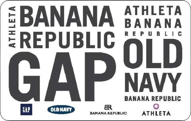Gap and Banana Republic Gift Card
