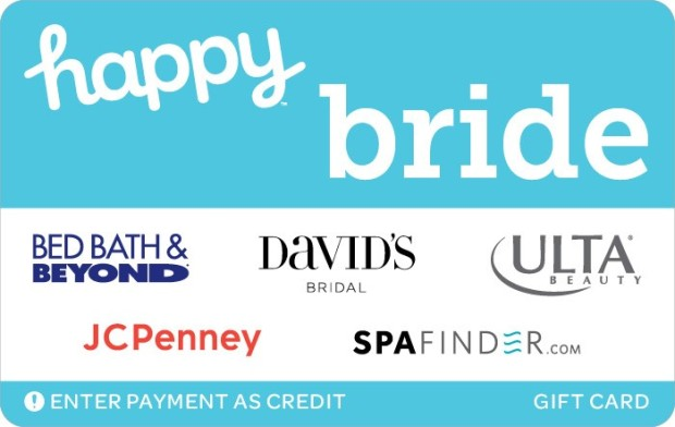 Get 15% off a $50 Happy Bride Gift Card